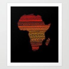 AFRIKA Art Print