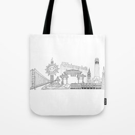 San Francisco by the Downtown Doodler Tote Bag