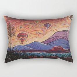 The Balloony Sunrise Rectangular Pillow