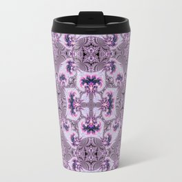 Pink and Purple Fractal Kaleidoscope Travel Mug