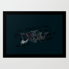for whatever we lose... Art Print