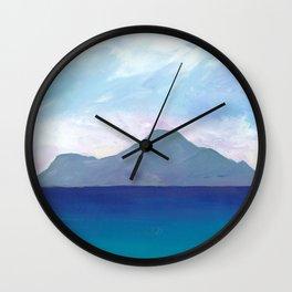 A Caribbean Volcanic Island Wall Clock