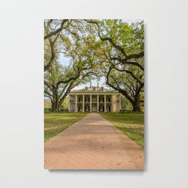 OAK ALLEY SPRING - LOUISIANA PLANTATION NEW ORLEANS - PHOTOGRAPHY PRINT Metal Print