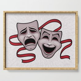 Comedy And Tragedy Theater Masks Serving Tray