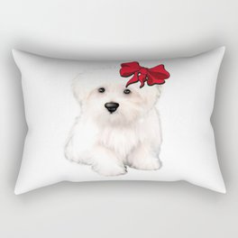 Cute bolognese dog.Perfect gift for dog lovers Rectangular Pillow