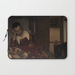 """Johannes Vermeer """"A Woman Asleep at Table"""" Laptop Sleeve"""