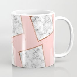 Pink and white marble Coffee Mug