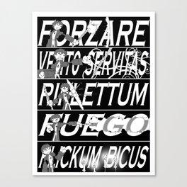 Dresden Files Spells Canvas Print