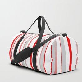 Stripes Red grey 01 Duffle Bag