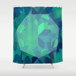 Emerald Gemstone Shower Curtain