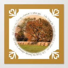 Autumn Harvest Journey Canvas Print
