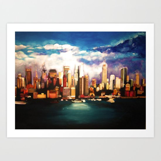 Dreamy NYC Skyline Art Print