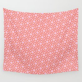 Stars in pink Wall Tapestry