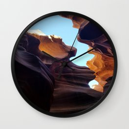 Antelope Canyon #7 Wall Clock