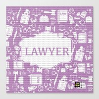 lawyer Canvas Prints featuring purple lawyer  by Be Raza