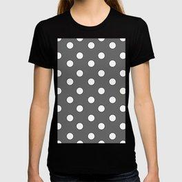 Grey Pastel Polka Dots T-shirt