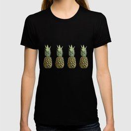 Four Juicy Pineapples Summer Fruits Series T-shirt