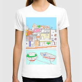 Italy Seaside Town And Beach - Ischia Island T-shirt