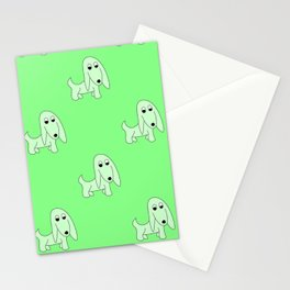 GREEN PRETTY POOCH Stationery Cards