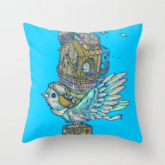 Bird Migration Throw Pillow