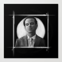 moriarty Canvas Prints featuring Moriarty by aizercul