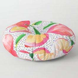 Citrus Love #digitalart #citrus Floor Pillow