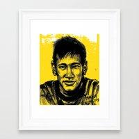 neymar Framed Art Prints featuring Neymar by yamini