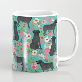 Black Labrador Retriever dog floral gifts must haves black lab lover Coffee Mug
