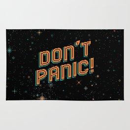 Don't Panic! Pixel Art Rug