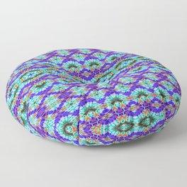 Feathery Tie Dye Floor Pillow