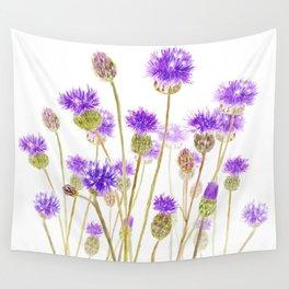purple thorny wildflower Wall Tapestry