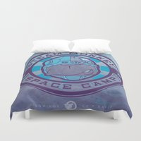 camp Duvet Covers featuring SPACE CAMP by Chip David
