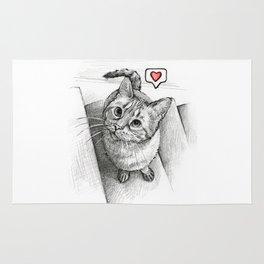 Cute Kitty Cat - Love Me Rug