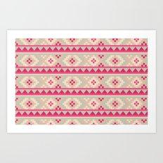 I Heart Patterns #017 Art Print
