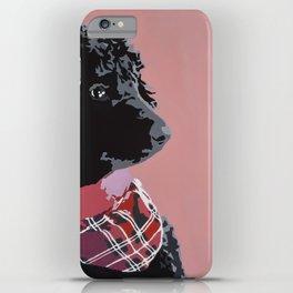 Black Standard Poodle in Pink iPhone Case