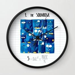 1.Squarowl Wall Clock