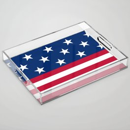 US Flag Acrylic Tray