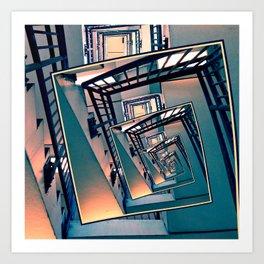 Infinite Spinning Stairs Art Print