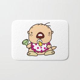 a baby sea otter Bath Mat