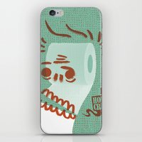 toilet iPhone & iPod Skins featuring Toilet Paper by YONIL