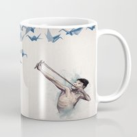 david Mugs featuring Lucky Shot by David Fleck