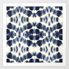 BOHEMIAN INDIGO BLUE Art Print