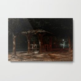 In A City Park At Night, New York City (2020-10-GNY-242) Metal Print