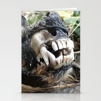 animal skull Stationery Cards featuring Animal Skull by CJ Thornburg