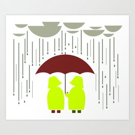 Share my Umbrella Art Print