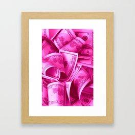 Pink Barbie Benjamins Framed Art Print