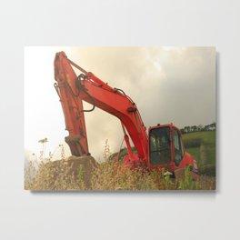 Construction machinery Metal Print