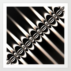 Black and White Diagonal Art Print