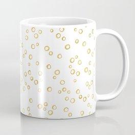 Gold Hand Painted Circles Coffee Mug