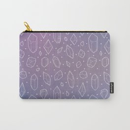 Crystals (Lilac) Carry-All Pouch